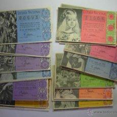 Lotería Nacional: LOTE BILLETES LOTERIA AÑO 1960- 28 DECIMOS. Lote 51130862