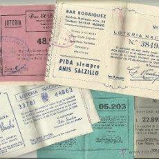 Lotería Nacional: COLECCIÓN (¡17!) PARTICIPACIONES DE LOTERIA DE NAVIDAD 1956 Y 1960. Lote 51468760