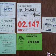 Lotería Nacional: LOTE DE 7 PARTICIPACIONES DE LOTERÍA NACIONAL AÑOS 2007, 11 Y 12. Lote 52378663