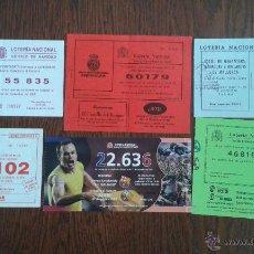 Lotería Nacional: LOTE DE 6 PARTICIPACIONES DE LOTERÍA NACIONAL AÑO 2009. Lote 52378678