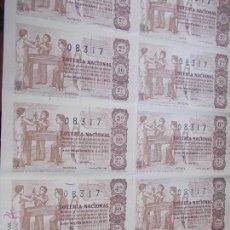 Lotería Nacional: BILLETE DE LOTERÍA COMPLETO 5 DE SEPTIEMBRE DE 1.963. Lote 52781664