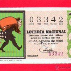 Lotería Nacional: LOTERIA NACIONAL SORTEO 24 DE 1969. Lote 53183361