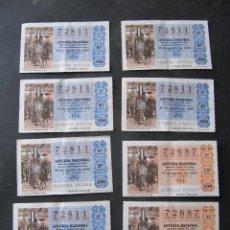Lotería Nacional: 8 DECIMOS DE LOTERIA NACIONAL. 2 NUMEROS. 30 AGOSTO 1980. Lote 53345046
