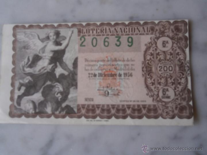 LOTERIA NACIONAL SORTEO Nº 36 - 22 DICIEMBRE DE 1956 (Coleccionismo - Lotería Nacional)