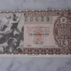 National Spanish Lottery - loteria nacional sorteo nº 36 - 22 diciembre de 1956 - 53531887