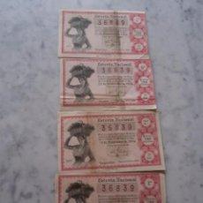 Lotería Nacional: LOTERIA NACIONAL 4 DECIMOS SORTEO Nº 36 - 22 DE DICIEMBRE 1954. Lote 53532024