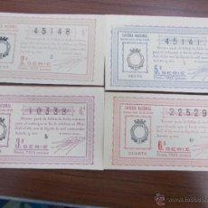 Lotería Nacional: LOTE DÉCIMOS LOTERÍA NACIONAL 1 DE AGOSTO DE 1.936. Lote 53757713