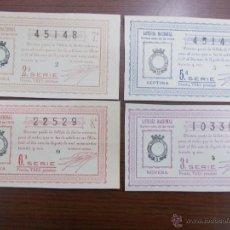 Lotería Nacional: LOTE LOTERÍA NACIONAL 1 DE AGOSTO DE 1.936 AÑO DE LA GUERRA CIVIL. Lote 53757760