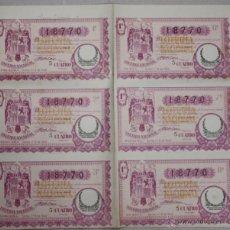 Lotaria Nacional: PLIEGO CON 6 DECIMOS DE LOTERIA NACIONAL. SORTEO Nº 8 DE 1940. AÑO DE LA VICTORIA. Lote 53765670