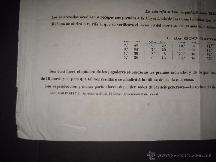 Lotería Nacional: LISTA LOTERIA - AVISO AL PUBLICO -SORTEO 47 AÑO 1870 - ORIGINAL-MIDE 52X 69 CM - VER FOTOS -(V-4248) - Foto 4 - 54263525