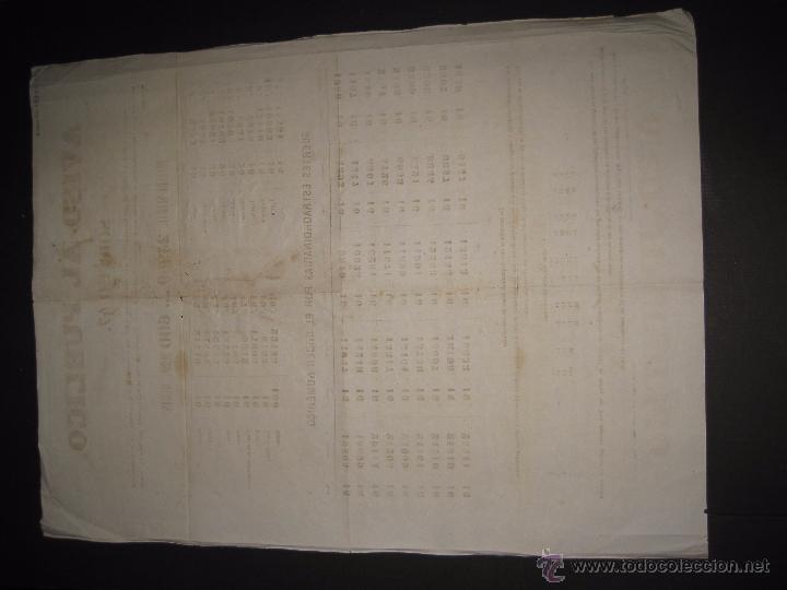 Lotería Nacional: LISTA LOTERIA - AVISO AL PUBLICO -SORTEO 47 AÑO 1870 - ORIGINAL-MIDE 52X 69 CM - VER FOTOS -(V-4248) - Foto 10 - 54263525