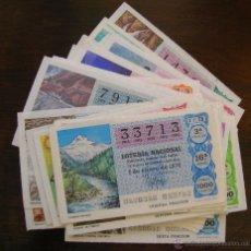 Lotería Nacional: LOTERIA NACIONAL AÑO COMPLETO 1978. 50 DECIMOS, LOS RECURSOS NATURALES. VER FOTOS. Lote 54491291