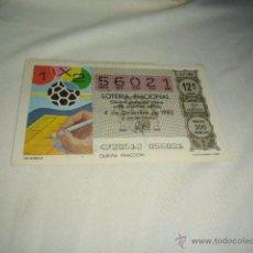 Nationale spanische Lotterie - LOTERIA NACIONAL 1982 DICIEMBRE DIA 4 LA QUINIELA 8 8 8 - 54660875