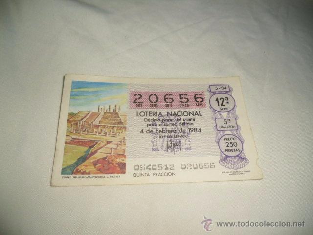 LOTERIA NACIONAL 1984 4 DE FEBRERO TEMPLO THLAHUIZCALPANTEVUHTLI C. TOLTECA (Coleccionismo - Lotería Nacional)