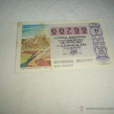 Lotería Nacional: LOTERIA NACIONAL 1984 4 DE FEBRERO TEMPLO THLAHUIZCALPANTEVUHTLI C. TOLTECA 242424. Lote 54669780
