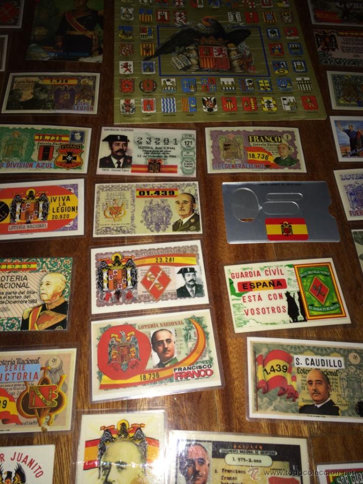 Lotería Nacional: GRAN LOTE LOTERIA PARTICIPACIONES FRANCO JOSE ANTONIO DIVISION LEGION AZUL ETC PLASTIFICADAS - Foto 6 - 54794124