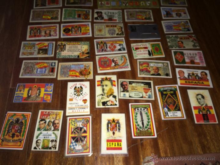 Lotería Nacional: GRAN LOTE LOTERIA PARTICIPACIONES FRANCO JOSE ANTONIO DIVISION LEGION AZUL ETC PLASTIFICADAS - Foto 12 - 54794124