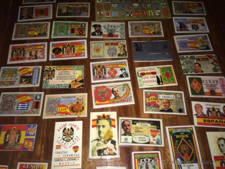 Lotería Nacional: GRAN LOTE LOTERIA PARTICIPACIONES FRANCO JOSE ANTONIO DIVISION LEGION AZUL ETC PLASTIFICADAS - Foto 13 - 54794124
