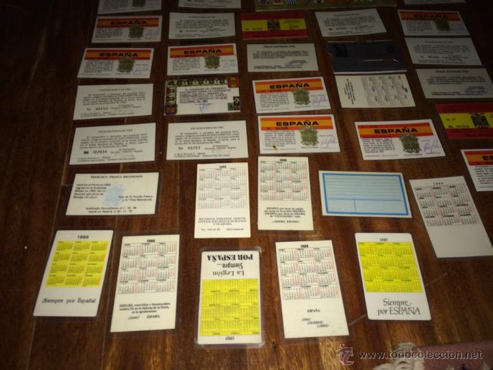 Lotería Nacional: GRAN LOTE LOTERIA PARTICIPACIONES FRANCO JOSE ANTONIO DIVISION LEGION AZUL ETC PLASTIFICADAS - Foto 17 - 54794124