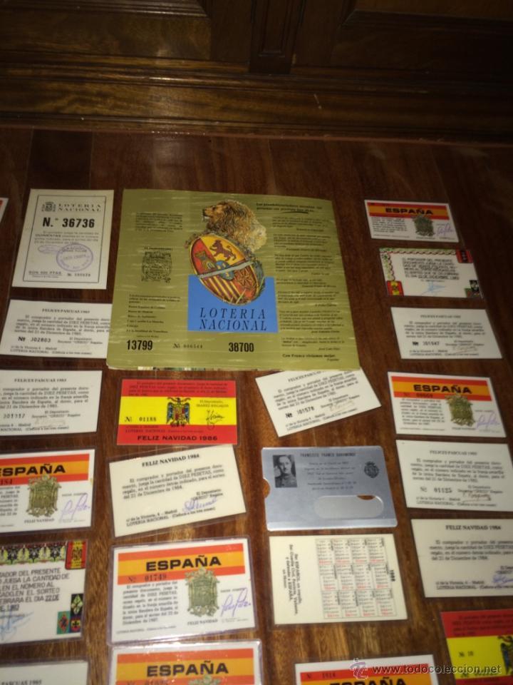 Lotería Nacional: GRAN LOTE LOTERIA PARTICIPACIONES FRANCO JOSE ANTONIO DIVISION LEGION AZUL ETC PLASTIFICADAS - Foto 20 - 54794124