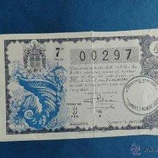 Lotería Nacional: DECIMO DE LOTERIA DE 1942 SORTEO 4. Lote 54794630