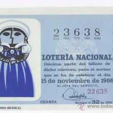 Lotería Nacional: LOTERÍA NACIONAL 1966 ( SORTEO 32 ). Lote 54870367