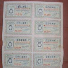 Lotería Nacional: BILLETE COMPLETO ( 10 DÉCIMOS ).LOTERIA NACIONAL.SORTEO Nº 29 DE 1936.Nº 35198. Lote 54931678