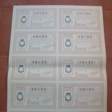Lotería Nacional: BILLETE COMPLETO ( 10 DÉCIMOS ).LOTERIA NACIONAL.SORTEO Nº 22 DE 1936.Nº 05130. Lote 54931999