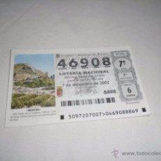 Lotería Nacional: LOTERIA NACIONAL 2002 DICIEMBRE DIA 7 MARTOS . Lote 54946187