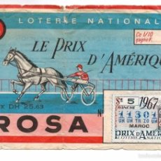 Lotería Nacional: LOTERIA NACIONAL MARRUECOS - 1967 - LOTERIE NATIONAL FRANCE. Lote 55155192