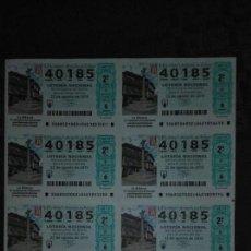 Lotería Nacional: PLIEGO DE 10 DECIMOS DE LOTERIA,SABADO SORTEO 68 DE 2015. Lote 55448156