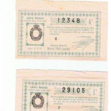 Loterie Nationale: DECIMOS DE LOTERIA ANTIGUOS. Lote 55817149