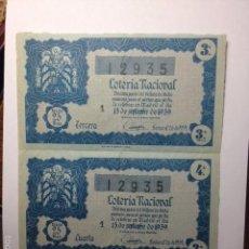 Lotería Nacional: DECIMOS DE 1959. Lote 56190317