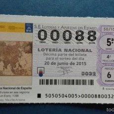 Lotería Nacional: DECIMO DE LOTERIA. Lote 56622405