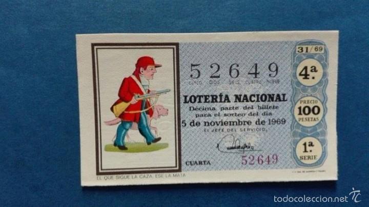 DECIMO DE LOTERIA DE 1969 SORTEO 31 (Coleccionismo - Lotería Nacional)