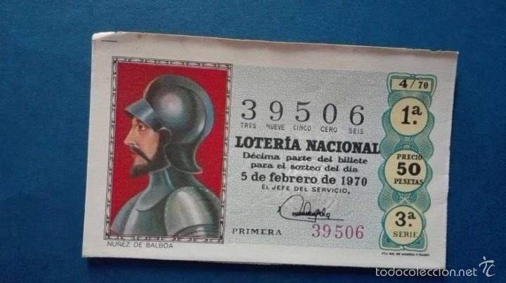 DECIMO DE LOTERIA DE 1970 SORTEO 4 (Coleccionismo - Lotería Nacional)