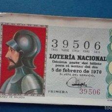 Lotería Nacional: DECIMO DE LOTERIA DE 1970 SORTEO 4. Lote 56918170