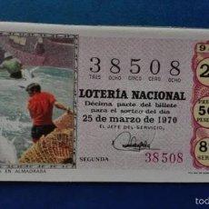Lotería Nacional: DECIMO DE LOTERIA DE 1970 SORTEO 9. Lote 56918650