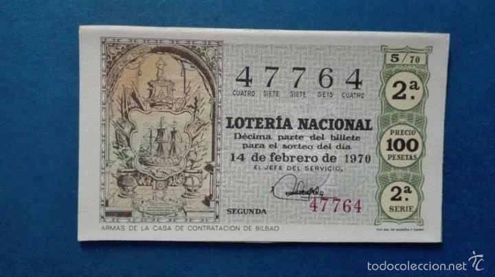 DECIMO DE LOTERIA DE 1970 SORTEO 5 (Coleccionismo - Lotería Nacional)