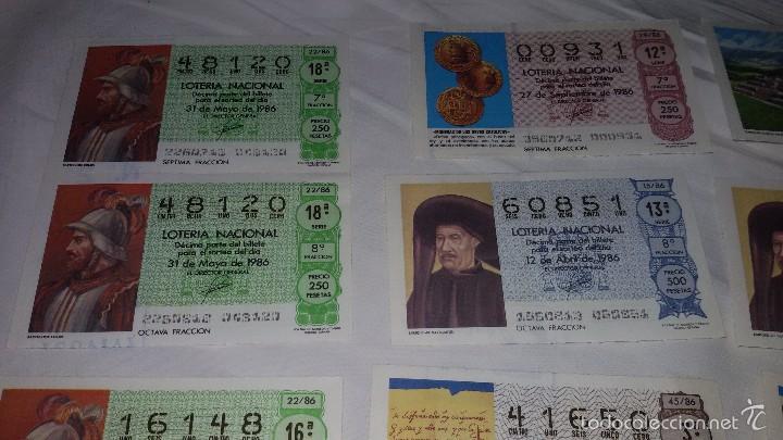 Lotería Nacional: 27 DECIMOS LOTERIA NACIONAL 1986 - Foto 2 - 56946551