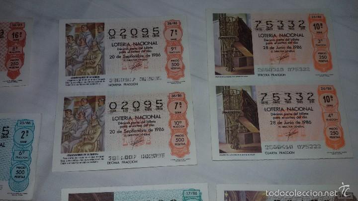 Lotería Nacional: 27 DECIMOS LOTERIA NACIONAL 1986 - Foto 3 - 56946551