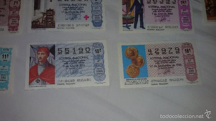 Lotería Nacional: 27 DECIMOS LOTERIA NACIONAL 1986 - Foto 4 - 56946551