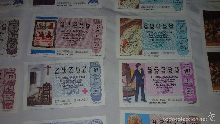 Lotería Nacional: 27 DECIMOS LOTERIA NACIONAL 1986 - Foto 5 - 56946551