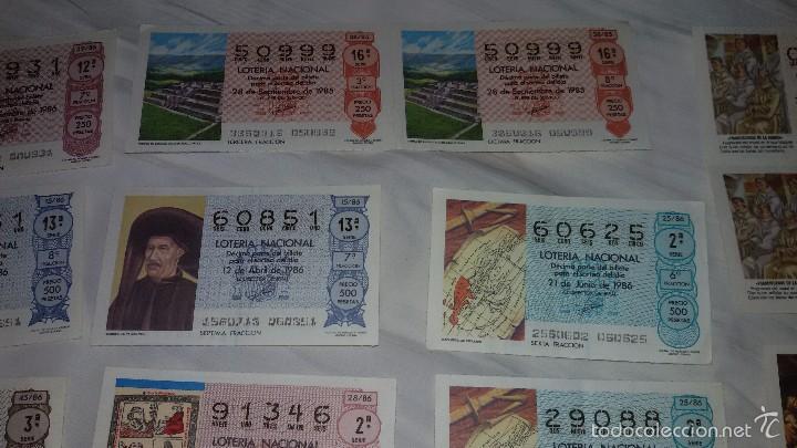Lotería Nacional: 27 DECIMOS LOTERIA NACIONAL 1986 - Foto 6 - 56946551