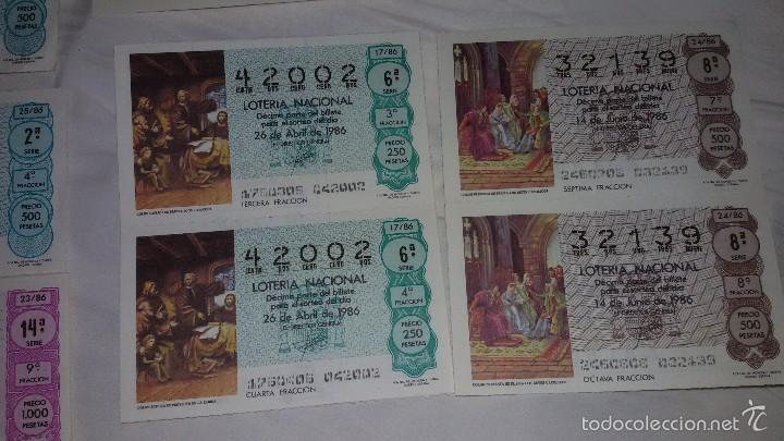 Lotería Nacional: 27 DECIMOS LOTERIA NACIONAL 1986 - Foto 7 - 56946551