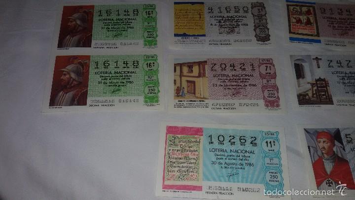 Lotería Nacional: 27 DECIMOS LOTERIA NACIONAL 1986 - Foto 8 - 56946551