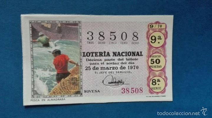 DECIMO DE LOTERIA DE 1970 SORTEO 9 (Coleccionismo - Lotería Nacional)