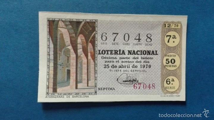 DECIMO DE LOTERIA DE 1970 SORTEO 12 (Coleccionismo - Lotería Nacional)