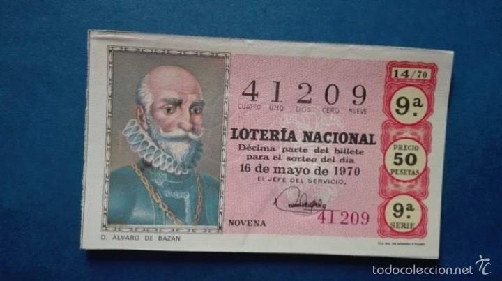 DECIMO DE LOTERIA DE 1970 SORTEO 14 (Coleccionismo - Lotería Nacional)