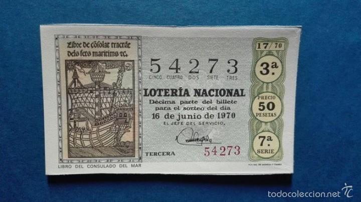 DECIMO DE LOTERIA DE 1970 SORTEO 17 (Coleccionismo - Lotería Nacional)